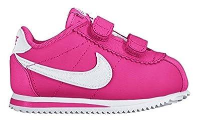 newest 5538e e1099 Nike Cortez Nylon (TDV), Chaussures de Football Bébé Garçon, Multicolore- Rosa