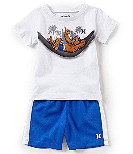 (Hurley Baby Boys Swinging Bear Tee and Short Set 12 Months)