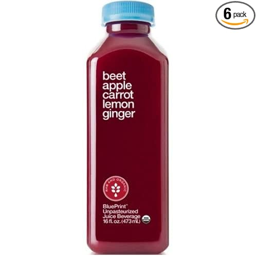 Amazon blueprint juice beet apple carrot lemon ginger 16 amazon blueprint juice beet apple carrot lemon ginger 16 ounce pack of 6 grocery gourmet food malvernweather Images