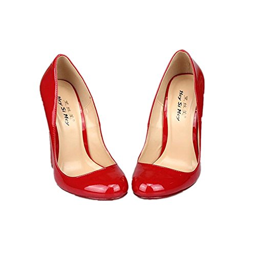 Tacco Prom Alto Rosso Eur Donne Dressy 8 Artificiale Impermeabile 5 Nuovo Sexy Scarpe Super Red 41 eur43uk9 uk Pu Nightclub Nero Primavera Nvxie Cuneo 7 nxC4qXIZnw