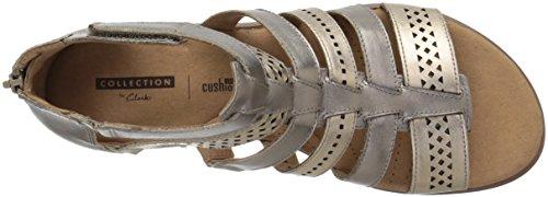 CLARKS Womens Kele Lotus Platform, Metallic/Multi Leather, 7.5 Medium US