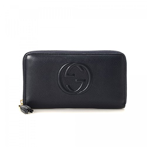 Disco Bag - Gucci Soho Mini Black Round Light Gold Disco Zip Italy Leather Handbag Bag New