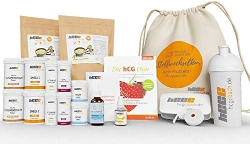 60 Tage hCG-Diät Set mit veganem Protein | Hormony ComplexG® B12-Tropfen | Buch | Aromatropfen (Banane)
