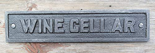 - Cast Iron antique style Wine Cellar Door Wall Plaque