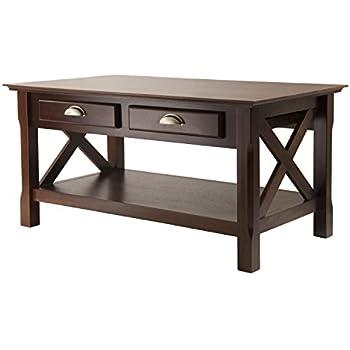 Wonderful Winsome Wood Xola Coffee Table, Cappuccino Finish