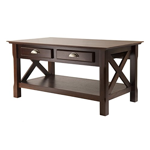 Winsome Wood Xola Coffee Table, Cappuccino Finish