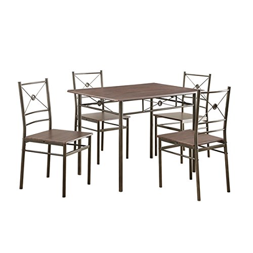 Coaster Company Walnut 5-piece Dinette Set Cross Back Chair Designs