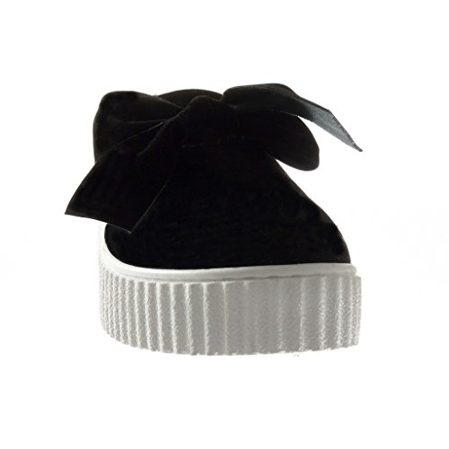 forme Coin Archets Noir Plate 5 Mode on Formateurs Cm Angkorly 3 Chaussures Des forme De Femmes Plate Slip P1zwn