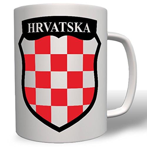 (Republic of Croatia HRVATSKA Coat of arms flag Zagreb - Coffee Cup Mug )
