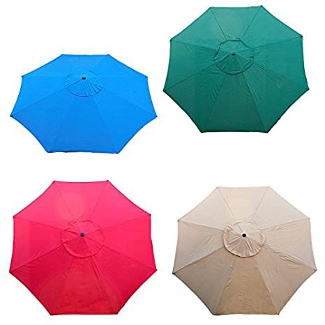 New Market Patio Umbrella Replacement Canopy Canvas Cover 13u0027 Ft (Red, 13ft)