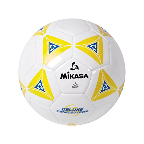 Mikasa Deluxe Cushioned Cover Club Soccer Ball, Yellow, Size 3 by Mikasa Sports