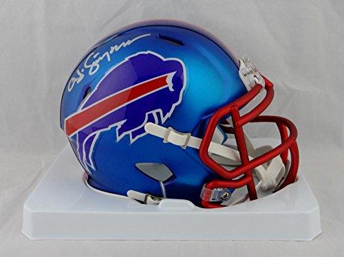 Buffalo Bills Autographed Helmets (O. J. Simpson Autographed Buffalo Bills Blaze Speed Mini Helmet- JSA W Auth)