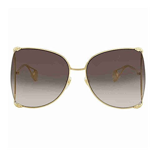 e8dda3b5a3 Gucci GG0252S Sunglasses 002 Gold   Grey Gradient Lens 63 mm