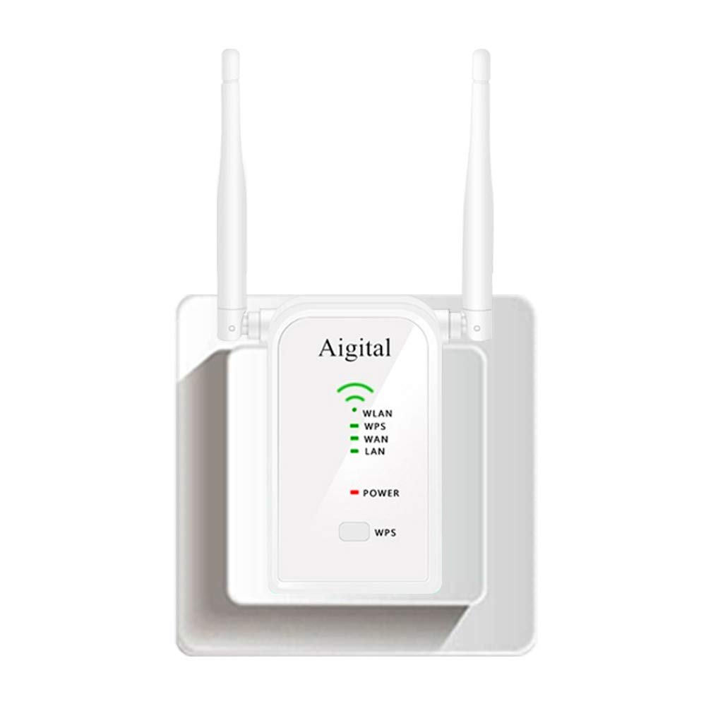 WiFi Extender Mini N300 Wireless WiFi Router Support Repeater/AP/Router  Mode 2 4GHz WiFi Signal Amplifier with External Antennas and 2 Ethernet  Port