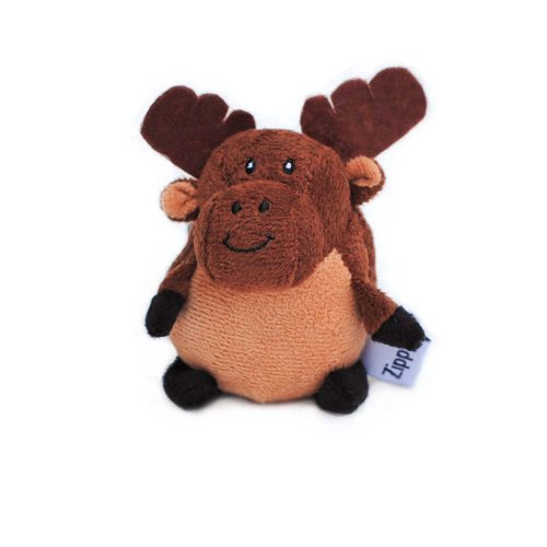ZippyPaws - Musical Gabbles Stuffed Dog Toy for Small Dogs - Moose