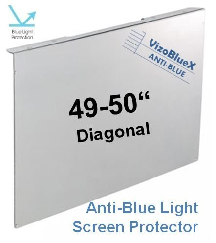 49-50 inch VizoBlueX Anti-Blue Light TV Screen Protector. Damage Protection Panel (44.1 x 25.6 inch) Filter Blocking UV & Blue Light from 380 to 495nm. Fits LCD, LED, 4K OLED & QLED HDTV Displays ()