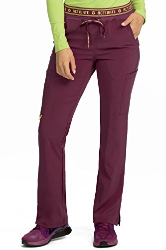 Med Couture Women's 'Activate' Flow Yoga Cargo Scrub Pant, Wine, Medium from Med Couture