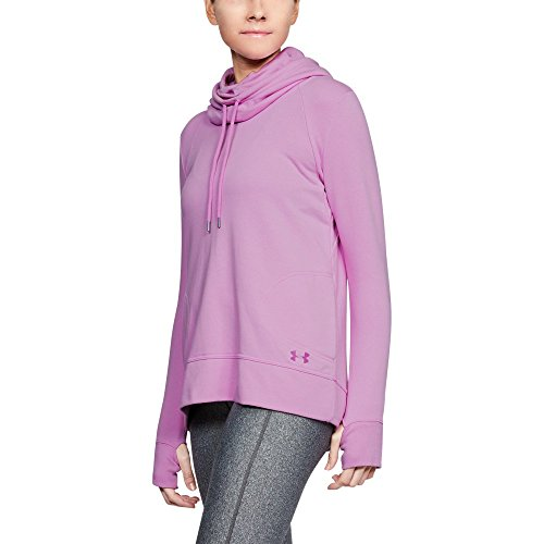 (Under Armour Womens French Terry Open Back Warm-Up, Icelandic Rose /White, Large)