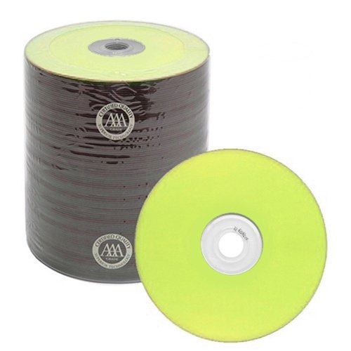 100 Spin-X Diamond Certified 48x CD-R 80min 700MB Yellow Color Top Thermal by SpinX