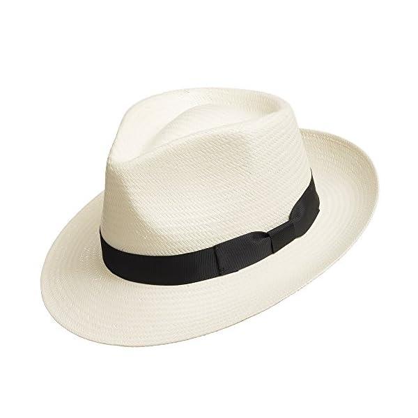 Fedora-GULLPORT-Reward-Classic-Straw-Panama-Hat-Exotic-Feather-Ultrafino
