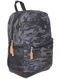 Jetstream Camo Lightweight Laptop Travel Daypack Backpack (Black)