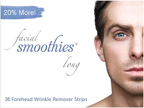 Facial Smoothies LONG Forehead Anti Wrinkle Strips, 36 Extra Long Wrinkle Remover Patches (Best Primer For Frown Lines)