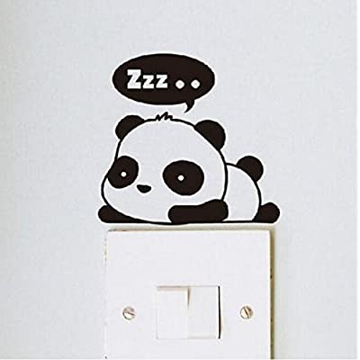 Crqes 1 Pcs ZZZ Panda DIY Switch Sticker Wall Quote Wall Stickers Vinyl Mural Decor Decals: Baby [5Bkhe0405401]