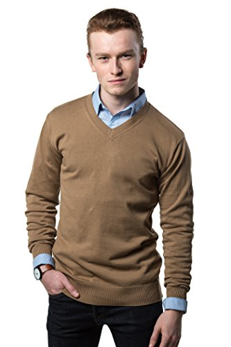 Gallery Seven V Neck Sweater For Men - Cotton Lightweight Mens Pullover by Gallery Seven (Image #3)
