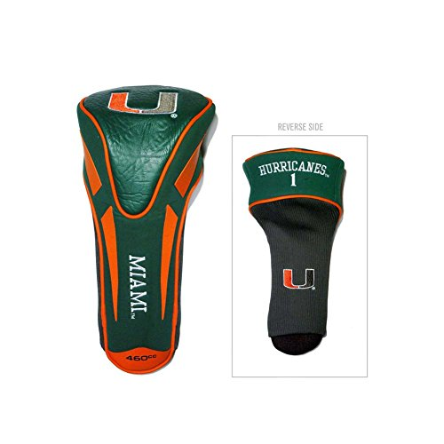 Green Golf Headcover Single - Team Golf Apex Single Driver Headcover (Miami, GREEN) Fits Oversized
