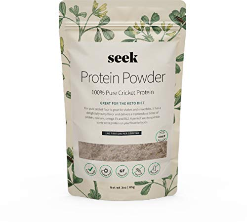 Cheap 100% Pure Seek Cricket Protein || 3oz (85g) || Sustainable // Delicious // Nutritious (Paleo & Keto Friendly | Gluten, Soy & Dairy Free)
