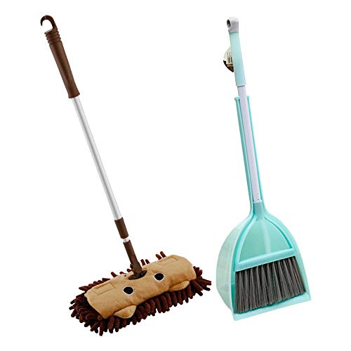 Shengruhua Children's Baby's Kids Gift Toy Children's mop Broom Broom Set Sweeping Cleaning Toy - Broom Mop And Baby