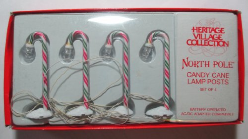 (Department 56 Village - Candy Cane Lampposts - Set of 4)