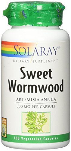 Solaray Sweet Wormwood Aerial 300 mg VCapsules, 100 Count