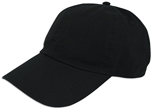 Classic Jersey Cap (Cotton Classic Dad Hat Adjustable Plain Washed Cap Polo Style Low Profile Unstructured (Black))