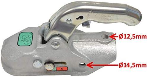 3500kg /Ø50mm Bohrungen 14,5//12,5mm Kugelkupplung K35-A FKAnh/ängerteile 1 x Knott