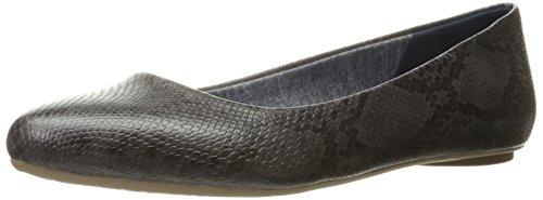 dr-scholls-womens-dark-grey-opel-snake-flat-shoes-8-bm-us
