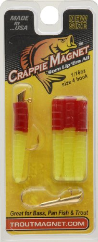 Trout Magnet Lures (Trout Crappie Magnet, Red Chartreuse)