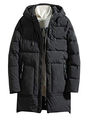 [해외]pipigo 남자의 겨울 두껍게 따뜻한 중간 길이 후드 다운 퀼트 코트 재킷 겉 옷 / pipigo Men`s Winter Thicken Warm Mid Length Hoodie Down Quilted Coat Jacket Outerwear