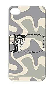 Dirtproof Cartoon Funny Vintage Comic New School Funk European Cartoon Art Door Sign Black Cover Case For Iphone 5s