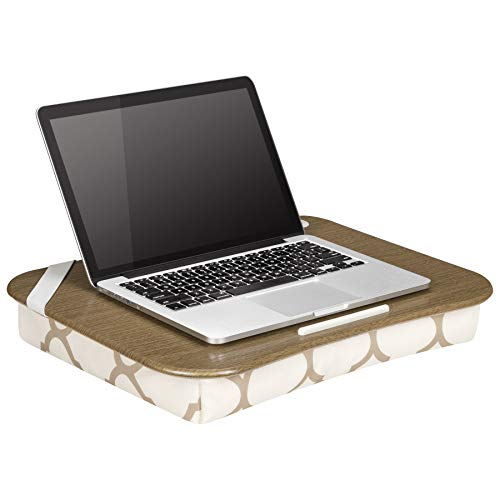 Lapgear Designer Lap Desk with Phone Holder - Beige Quatrefoil