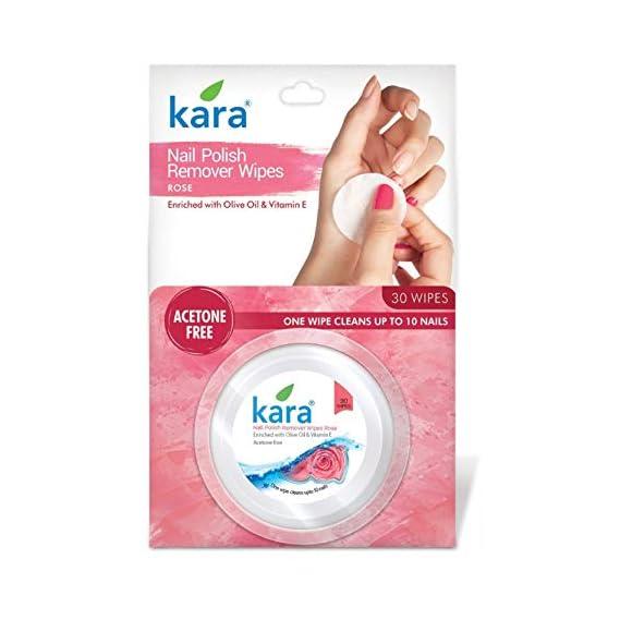 Kara Nail Polish Remover - Wipes, Rose, 30 Wipes