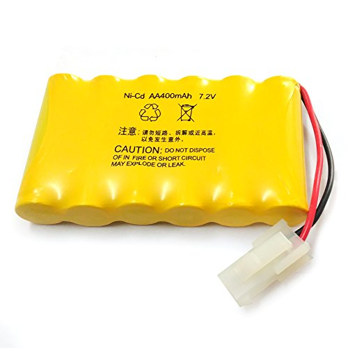 Gecoty 7.2V 400mAh Rechargeable Ni-cd AA Battery Pack 5559 2P Plug for Huanqi 516 558 RC Tank 538 RC Car And Other Similar Remote Control (Tank Battery)
