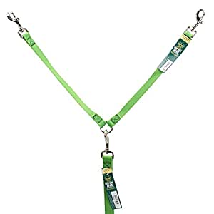Guardian Gear Nylon 2-Way Large Dog Coupler with Nickel Plated Swivel Clip, 24-Inch, Electric Lime