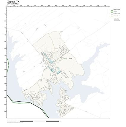Map Of Zapata Tx.Amazon Com Zip Code Wall Map Of Zapata Tx Zip Code Map Laminated