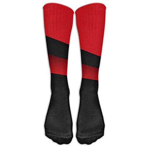 Dodge Challenger Costume (Red Black Line Unisex Long Tube Sock High Sports Stockings)