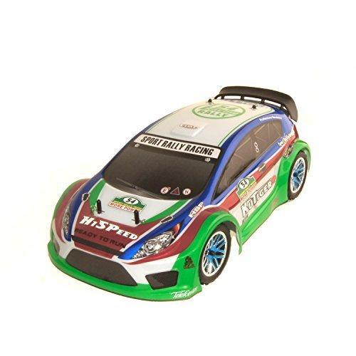 ALEKO RCC94177BLUE Nitro Powered Rally Car (1:10 (10 Nitro Gas Car)