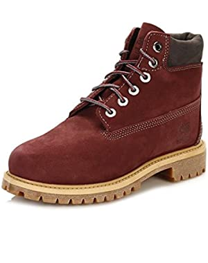 CA1AD1 Toddlers 6 Inch Premium Waterproof Boots, Color: Dark Port, Size: 13 Little Kid M