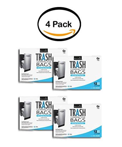 PACK OF 4 - Bestair Heavy Duty Compactor Bags, 16