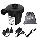 JOYCOO Electric Air Pump Air Mattress Pump Airbed Pump Portable Inflate Pump Travel Inflator Deflator for,Pools, Boats,raft, Airbeds, Inflated Toy AC 110V DC 12V