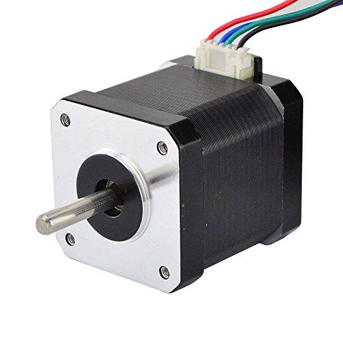 - STEPPERONLINE 3D Printer Nema 17 Stepper Motor 1.7A 64oz.in 4 Wire 1m Wire W/Molex Connector